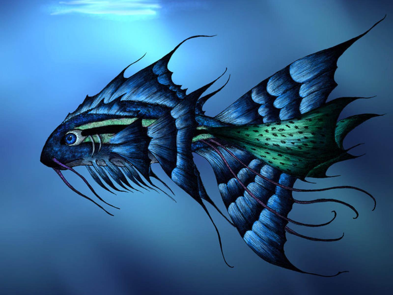 Hình ảnh 3d con cá