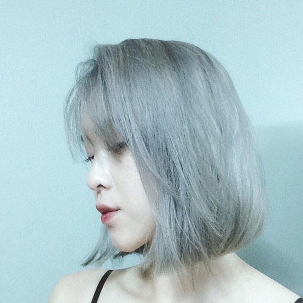 Hình ảnh con gái tóc ngắn bạch kim