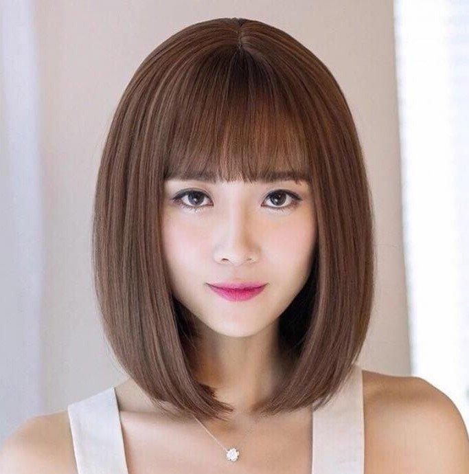 Kiểu tóc ngắn mái bằng cho nữ