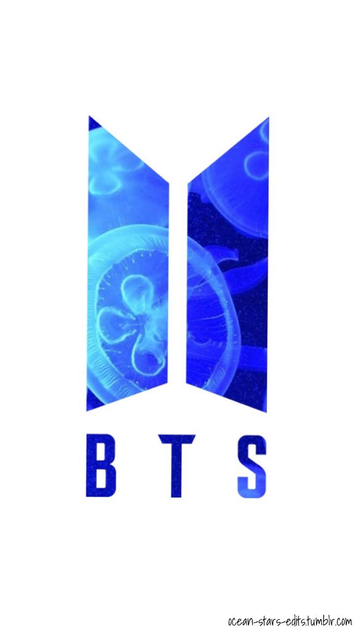 Ảnh BTS logo màu xanh
