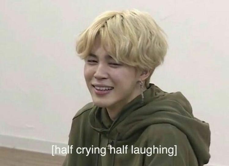 Ảnh chế BTS hài bựa- Half crying half laughing