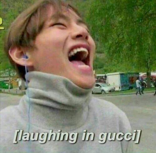 Ảnh chế BTS hài bựa- Laughing in gucci