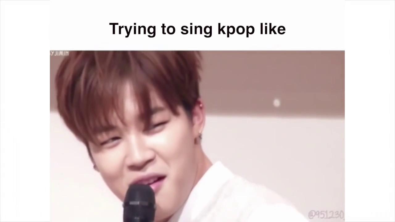 Ảnh chế BTS hài bựa- Trying to sing kpop like