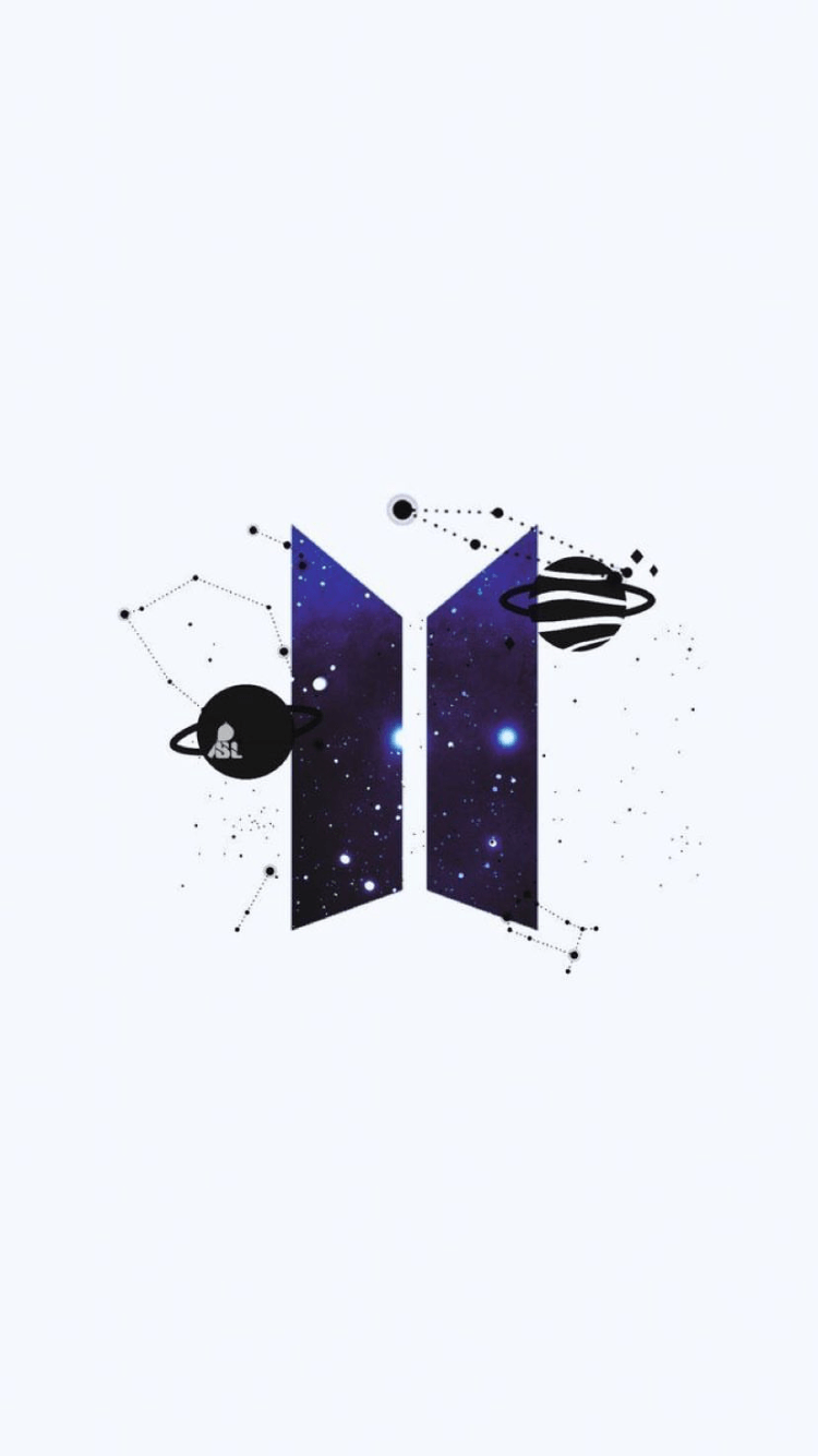 Ảnh logo BTS có thể đặt làm hình nền điện thoại