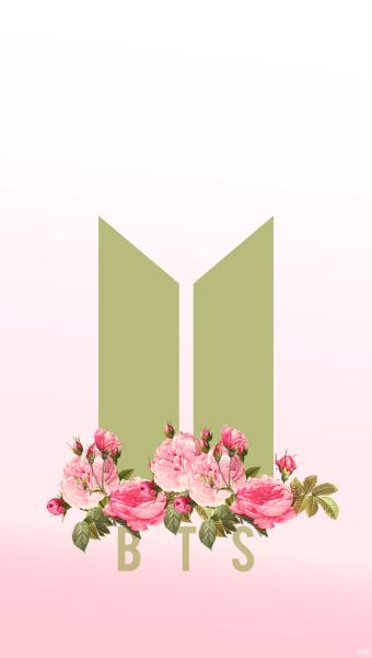 Ảnh logo BTS kéo dài theo chiều dọc