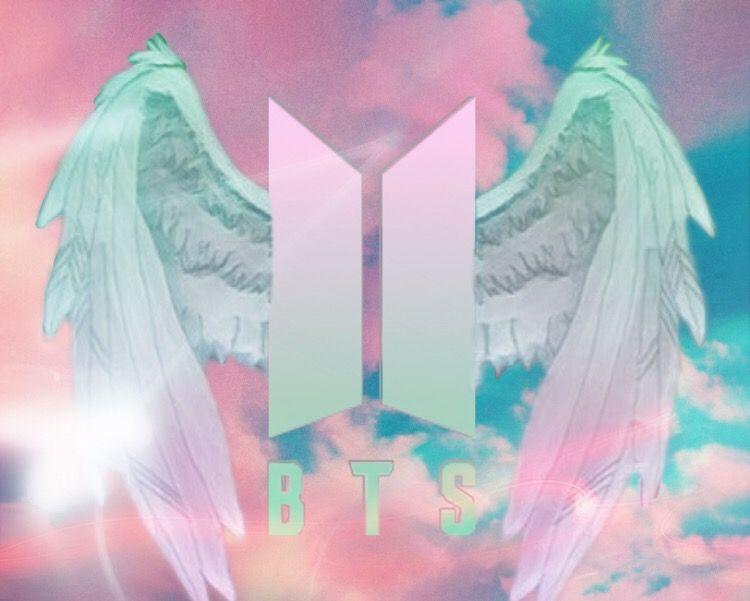 Ảnh logo BTS với đôi cánh thiên thần