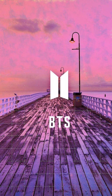 Ảnh logo của BTS với nền rất đẹp