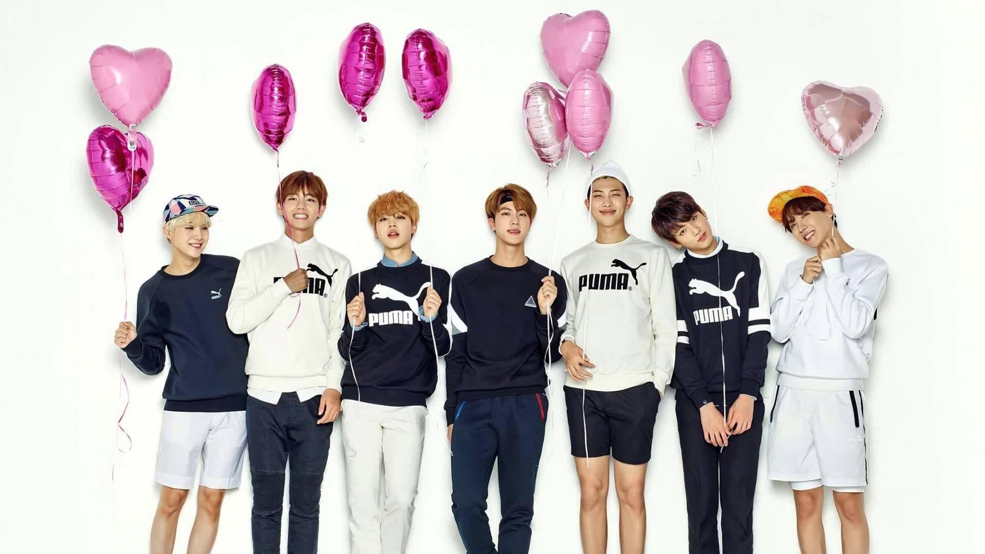 BTS Wallpaper các thành viên và bóng hồng