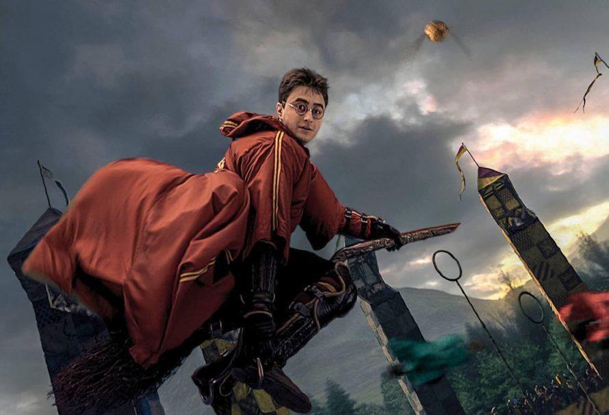 Hình ảnh harry porter cưỡi chổi thần