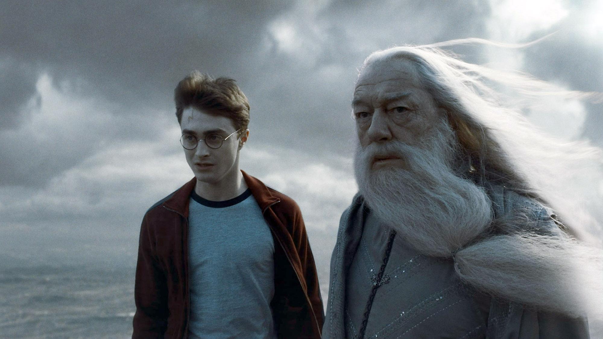 Hình ảnh harry porter và dumbledore
