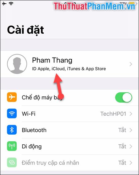 Chọn phần ID Apple