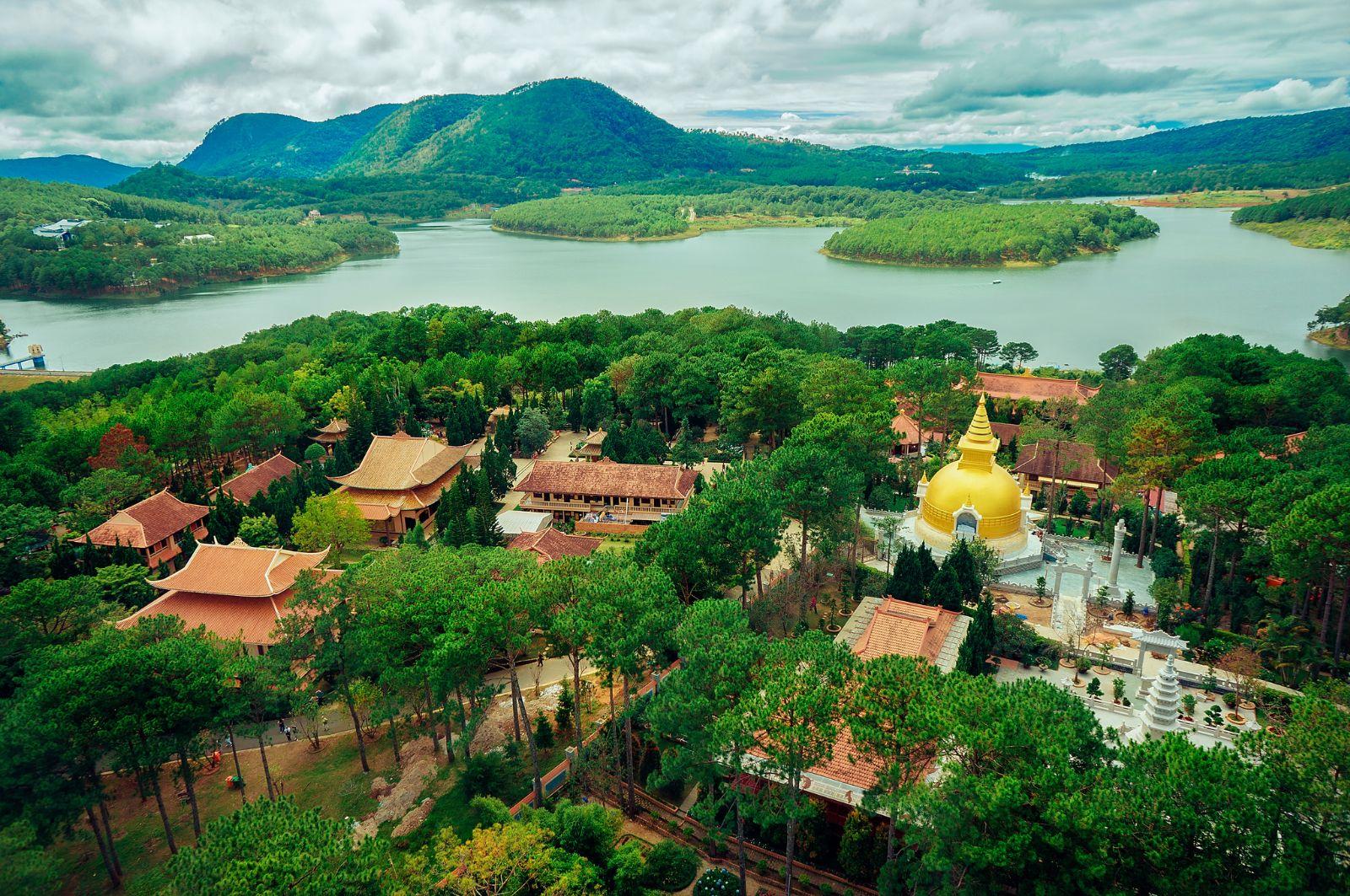 Ảnh đẹp thiền viện ở Đà lạt