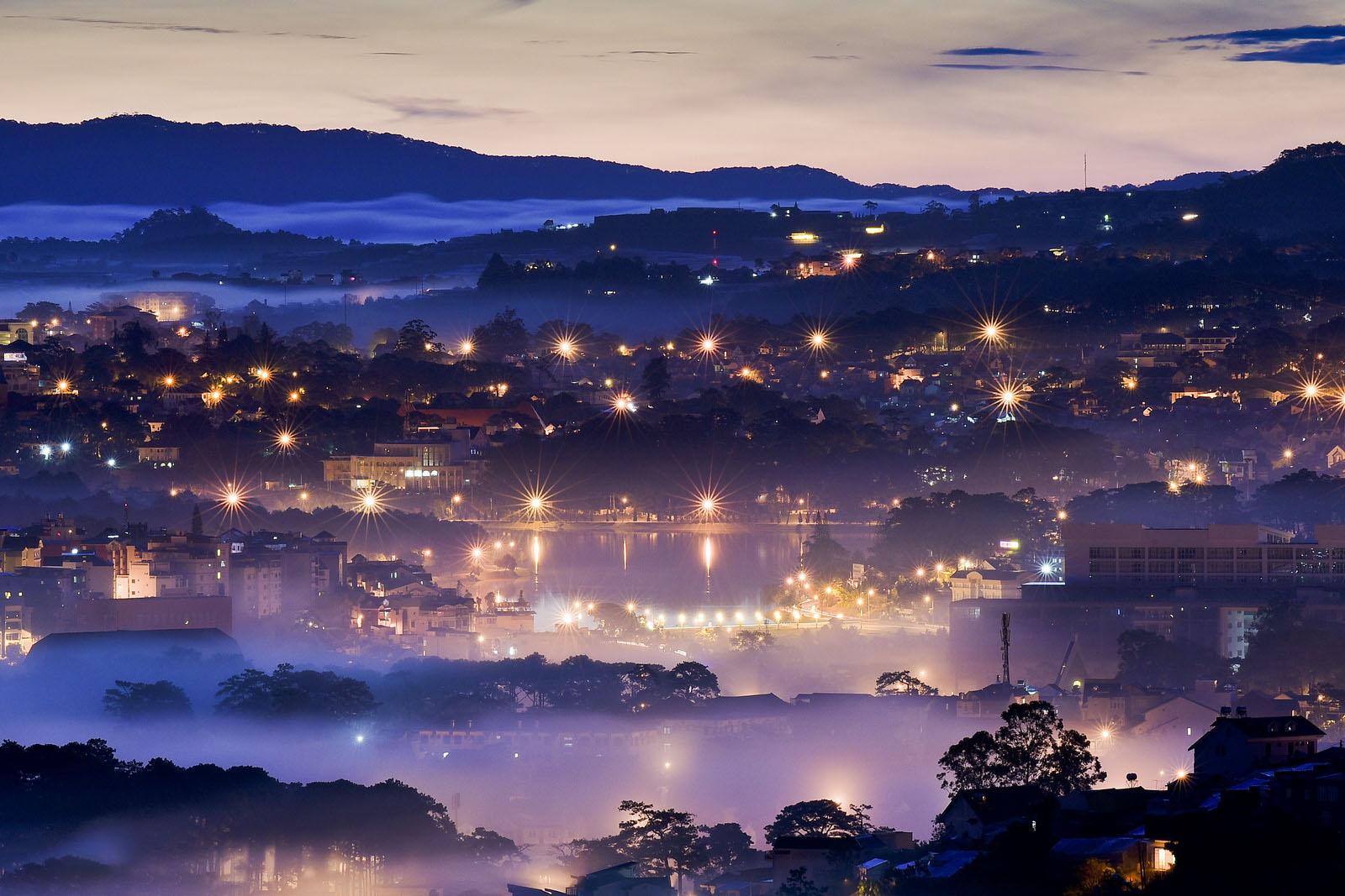 Hình ảnh Đà lạt đẹp về đêm