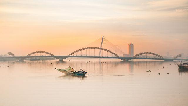 Hình ảnh đẹp sông Hàn sáng sớm