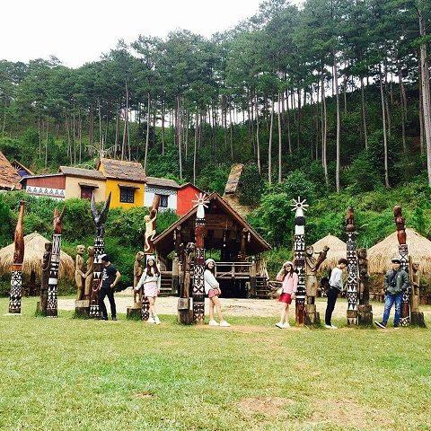 Hình ảnh làng cù lần ở Đà lạt