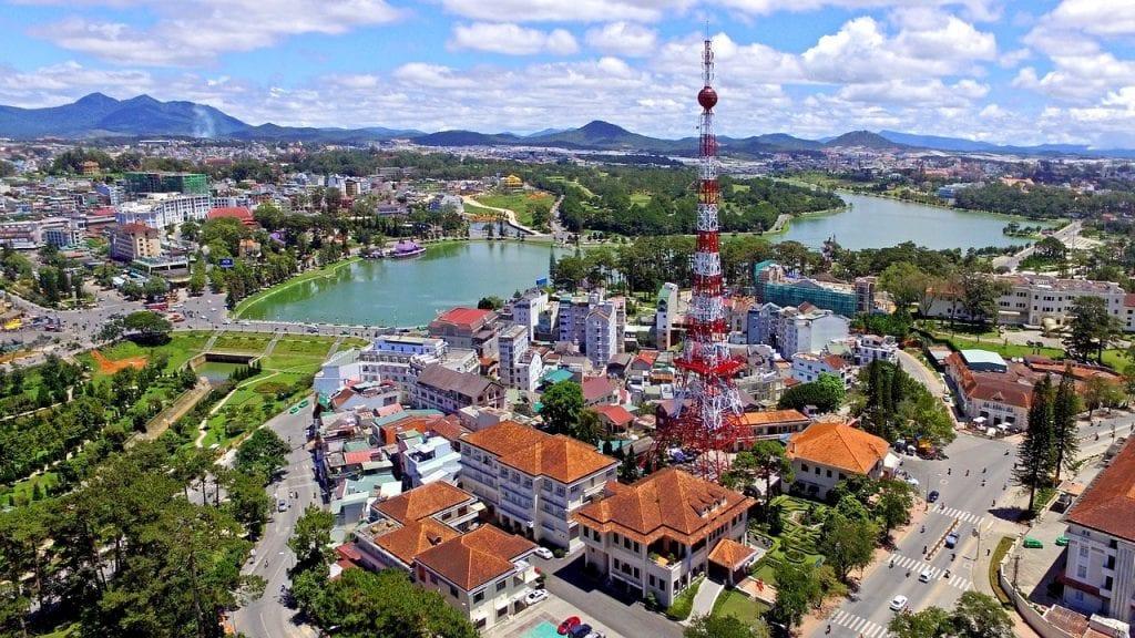 Hình ảnh thành phố Đà lạt từ trên cao
