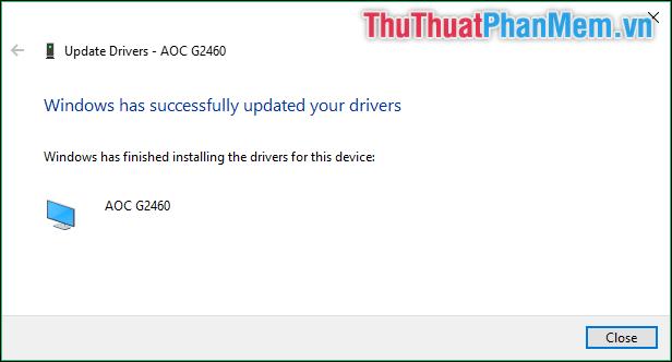 Driver được cập nhật