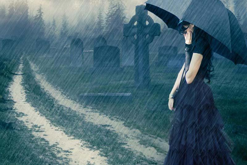Ảnh cô đơn dưới trời mưa đẹp