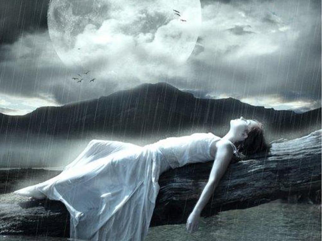 Hình ảnh trời mưa cô đơn, buồn