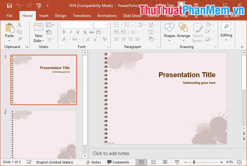 Mẫu Template PowerPoint đẹp số 13