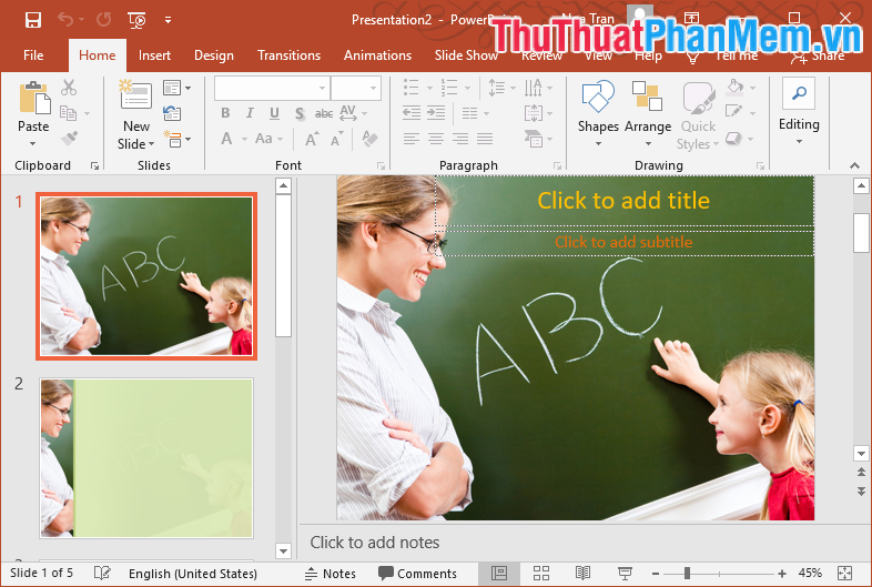 Mẫu Template PowerPoint đẹp số 1