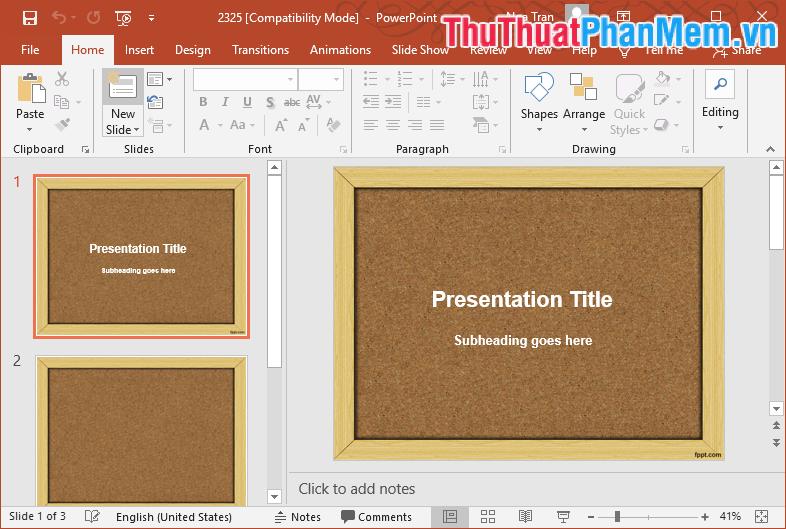 Mẫu Template PowerPoint đẹp số 2 2