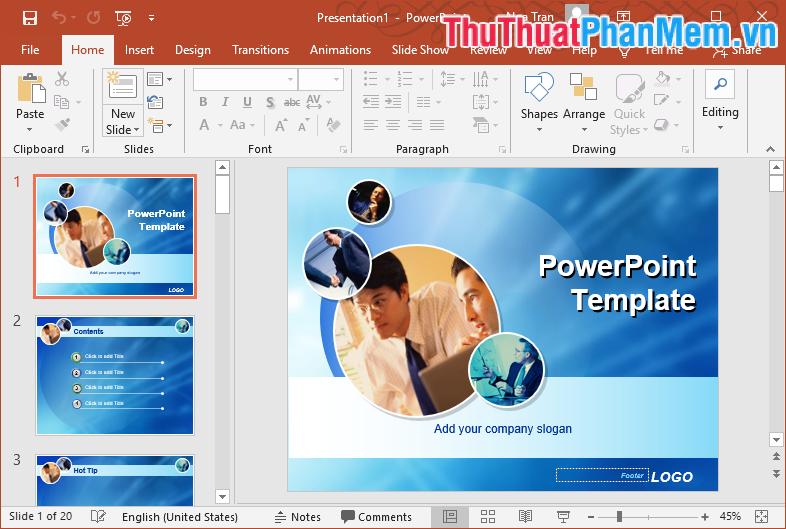 Mẫu Template PowerPoint đẹp số 25