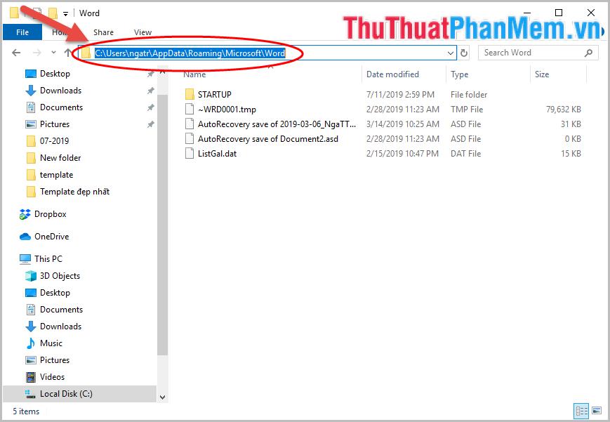 Phục hồi file nào thì kích đúp chuột vào file đó