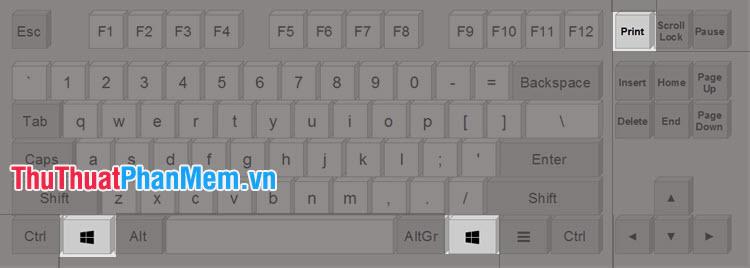 Chọn phím tắt Print Screen