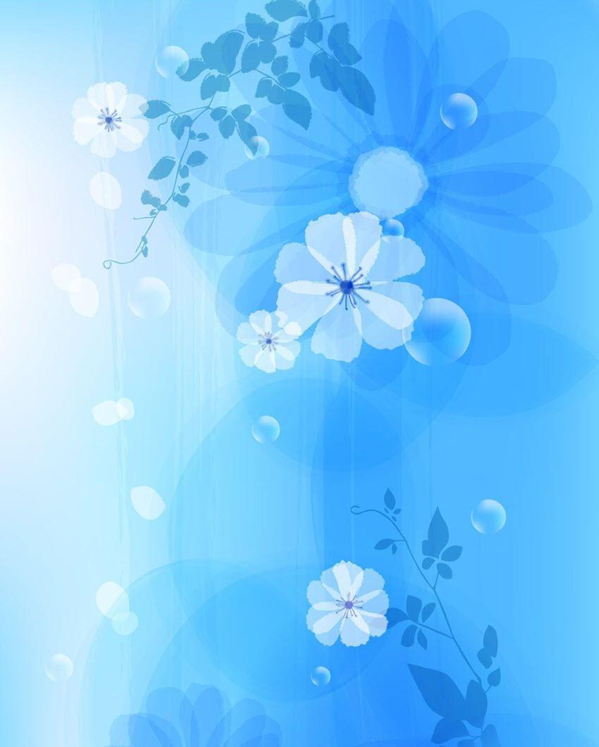 Hình nền hoa đơn giản cho Word