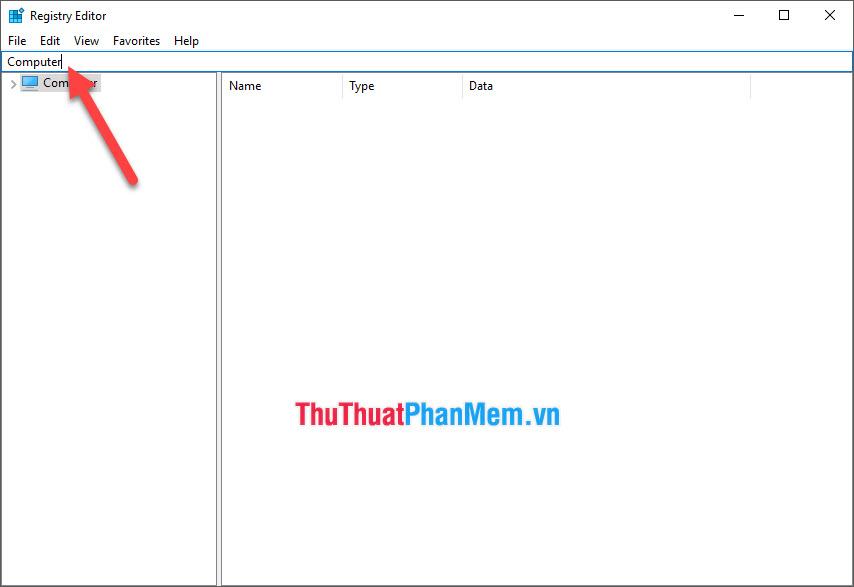 Cửa sổ Registry Editor