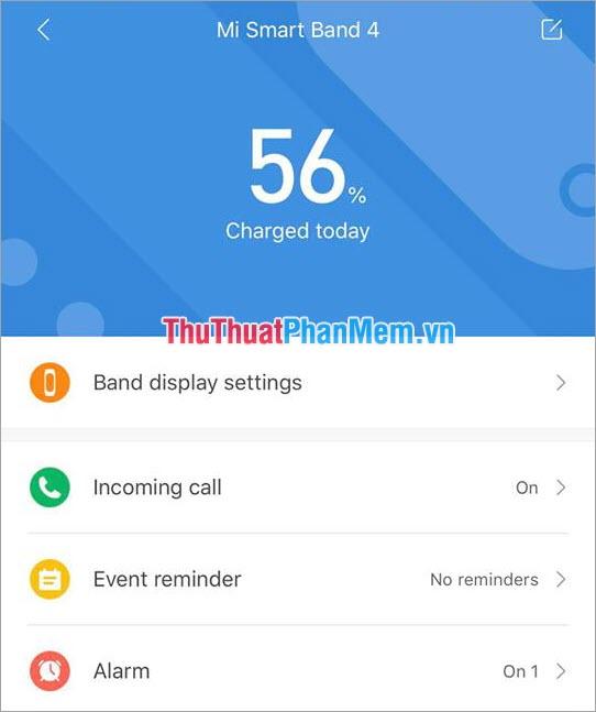 Thời gian Pin của Miband 4 khi chưa khắc phục lỗi