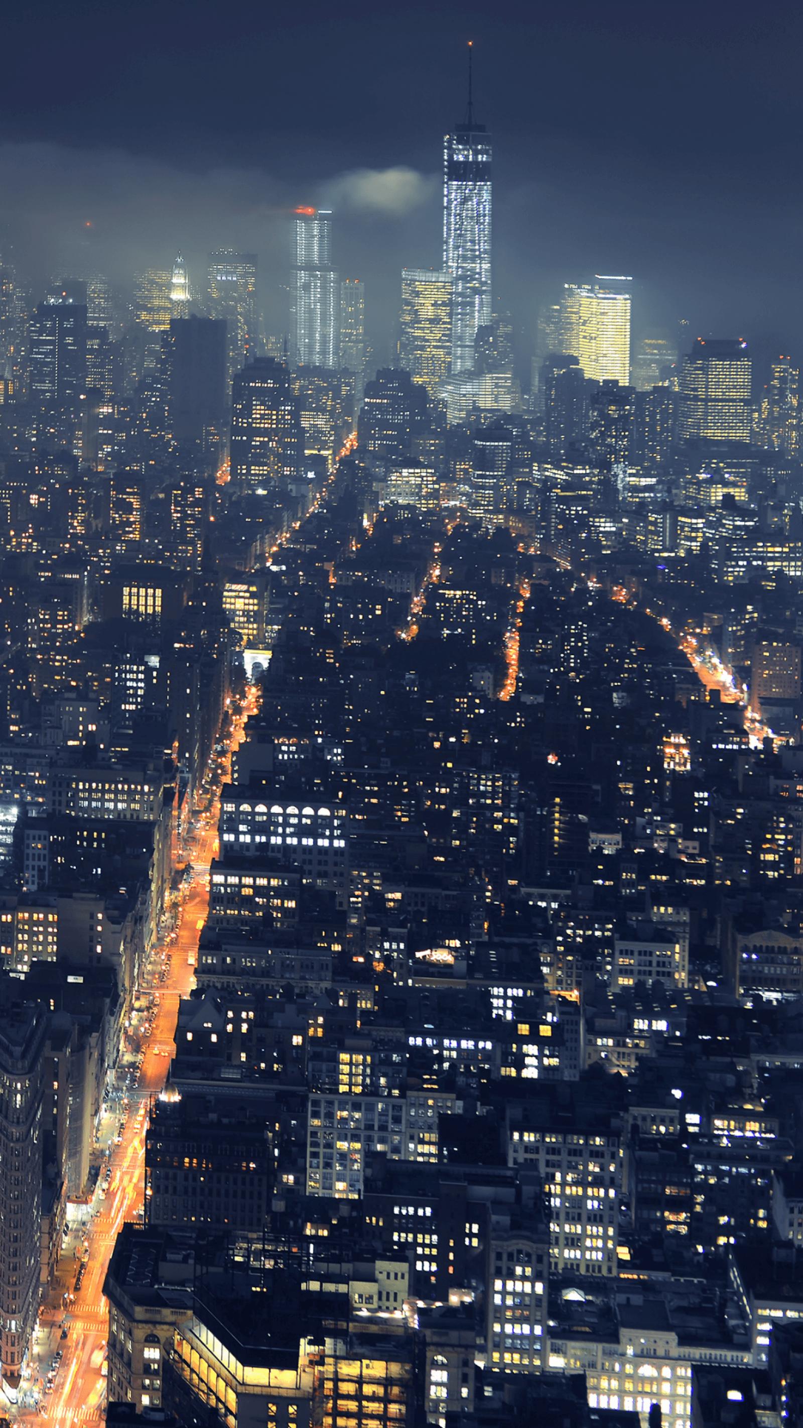 Ảnh đẹp điện thoại chất lượng 4k - thành phố lúc về đêm