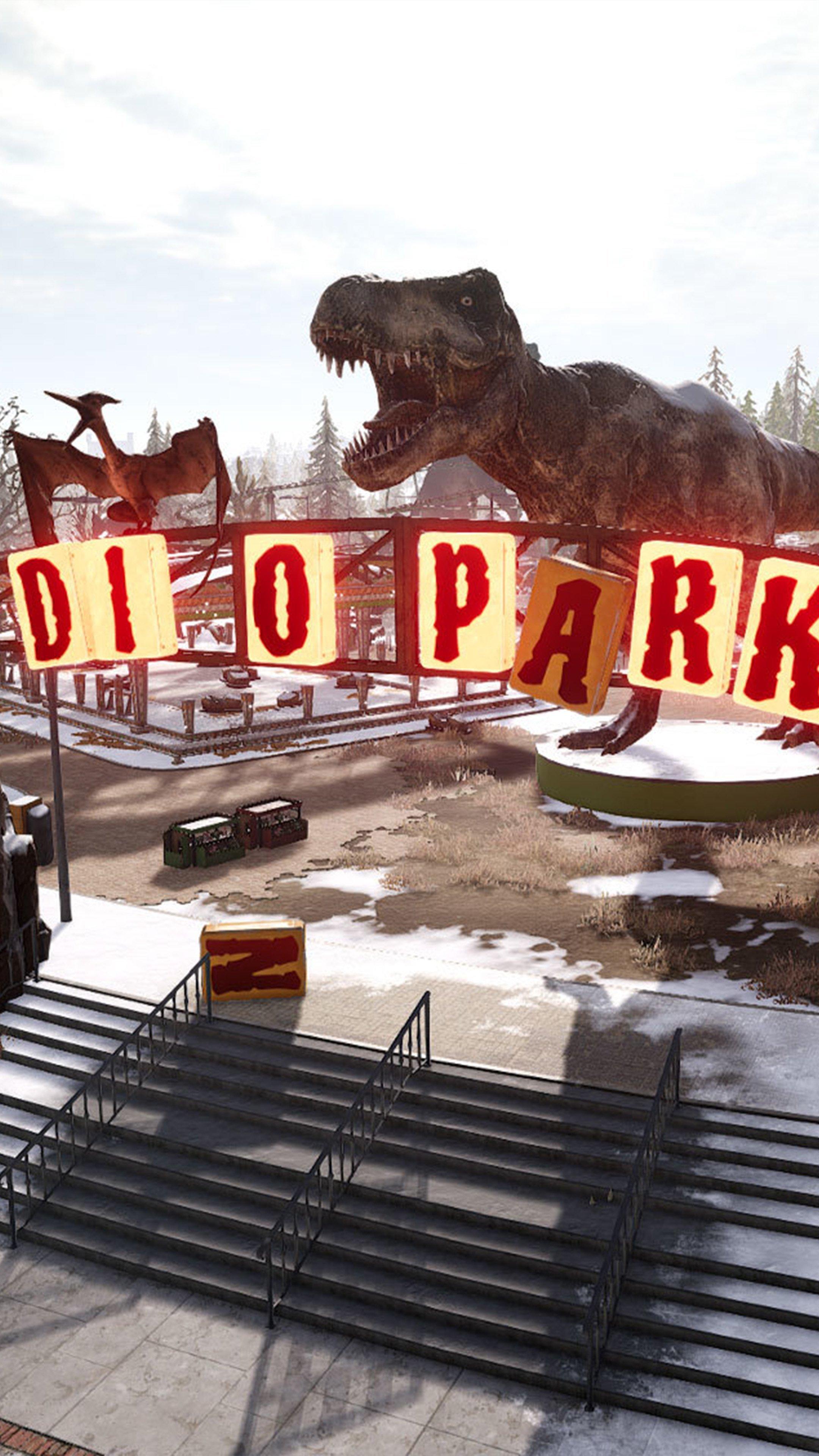 Ảnh đẹp làm nền điện thoại 4k - công viên khủng long