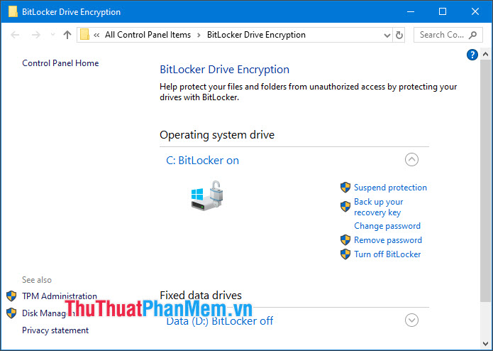 Mã hóa dữ liệu Windows với BitLocker