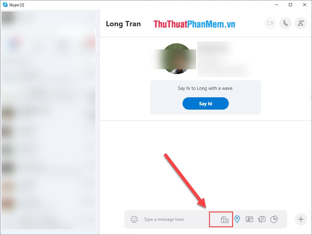 Chọn biểu tượng gửi File