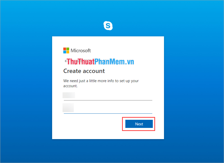 Đặt tên cho tài khoản Skype