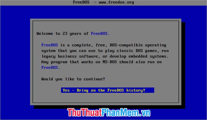 Các tính năng của FreeDOS