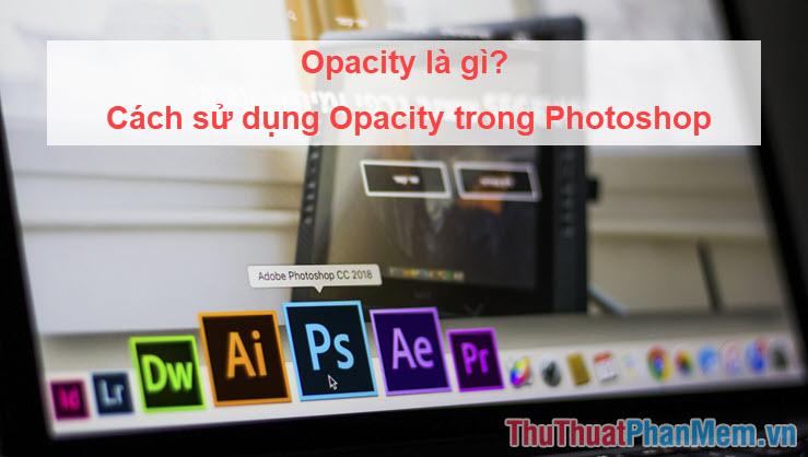 Opacity là gì? Cách sử dụng Opacity trong Photoshop