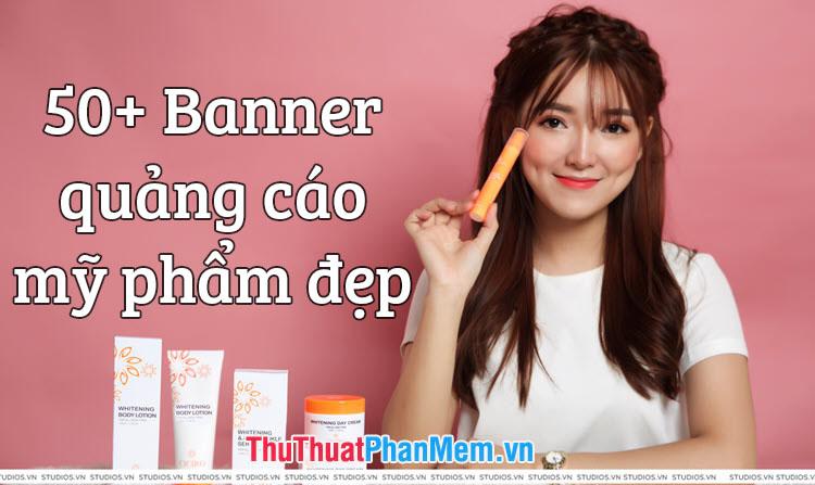 Banner quảng cáo mỹ phẩm đẹp