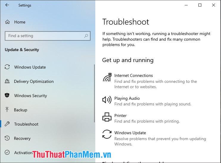 Windows Troubleshoot