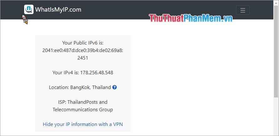 Sử dụng trang web để check VPN 2