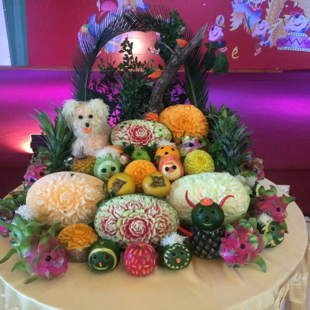 Mâm cỗ trung thu hoa quả đẹp