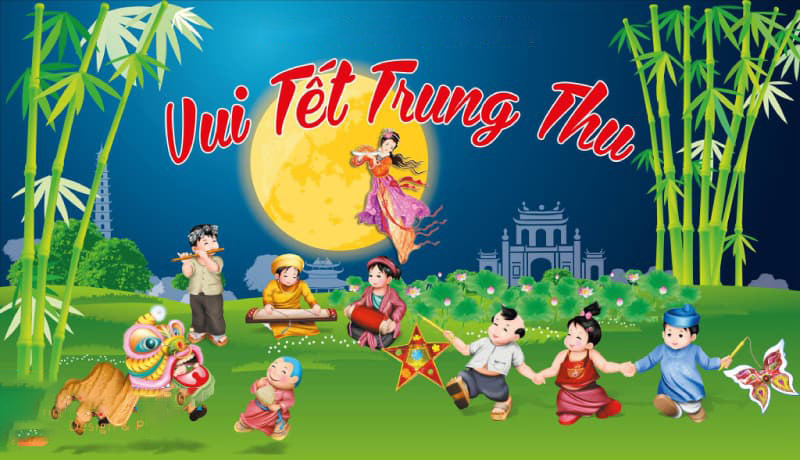 Nền background trung thu