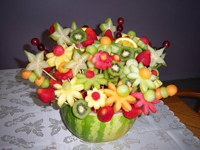 Trang trí mâm cỗ trung thu với hoa quả