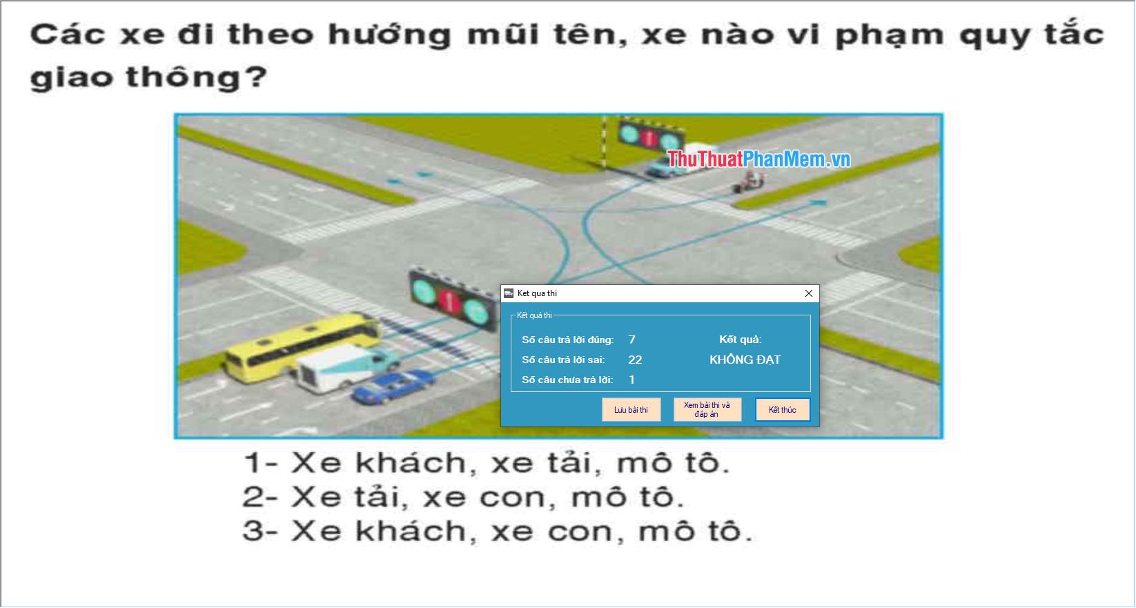 Download phần mềm 450 câu hỏi sát hạch lái xe mới nhất