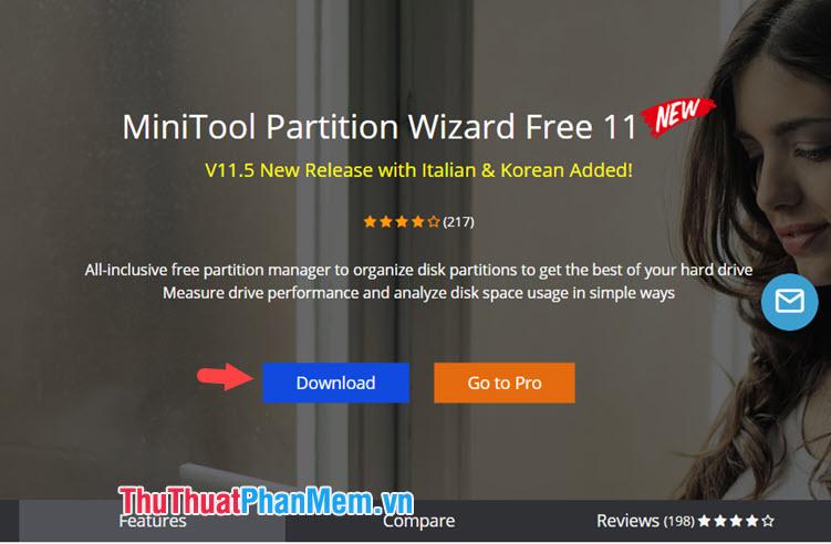 Tải phần mềm MiniTool Partition Wizard Free 11