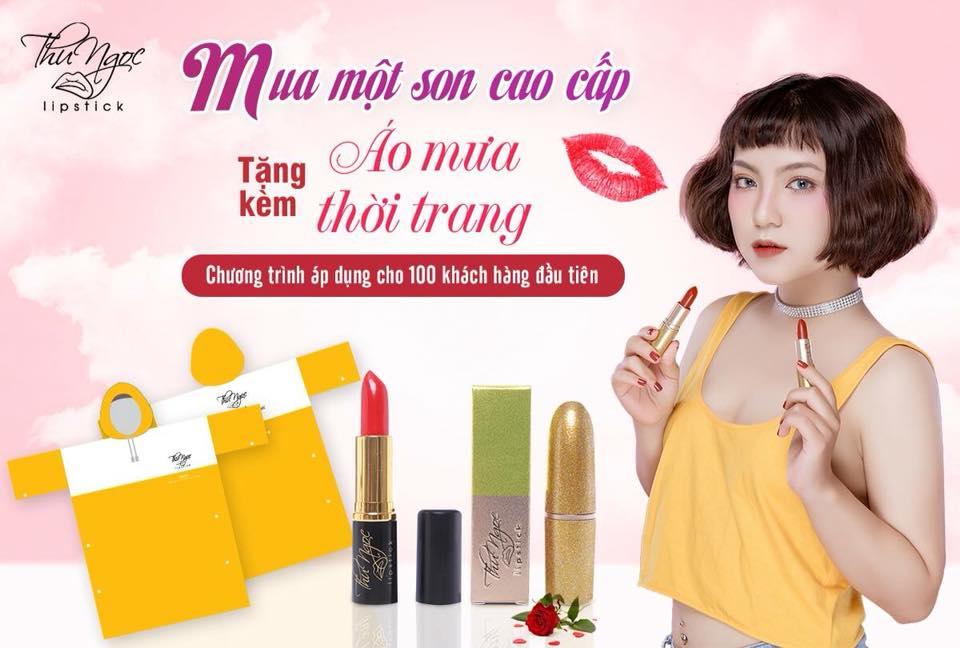 Ảnh banner quảng cáo mỹ phẩm son môi