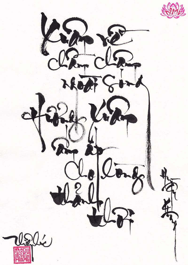 Ảnh mẫu chữ thư pháp đẹp