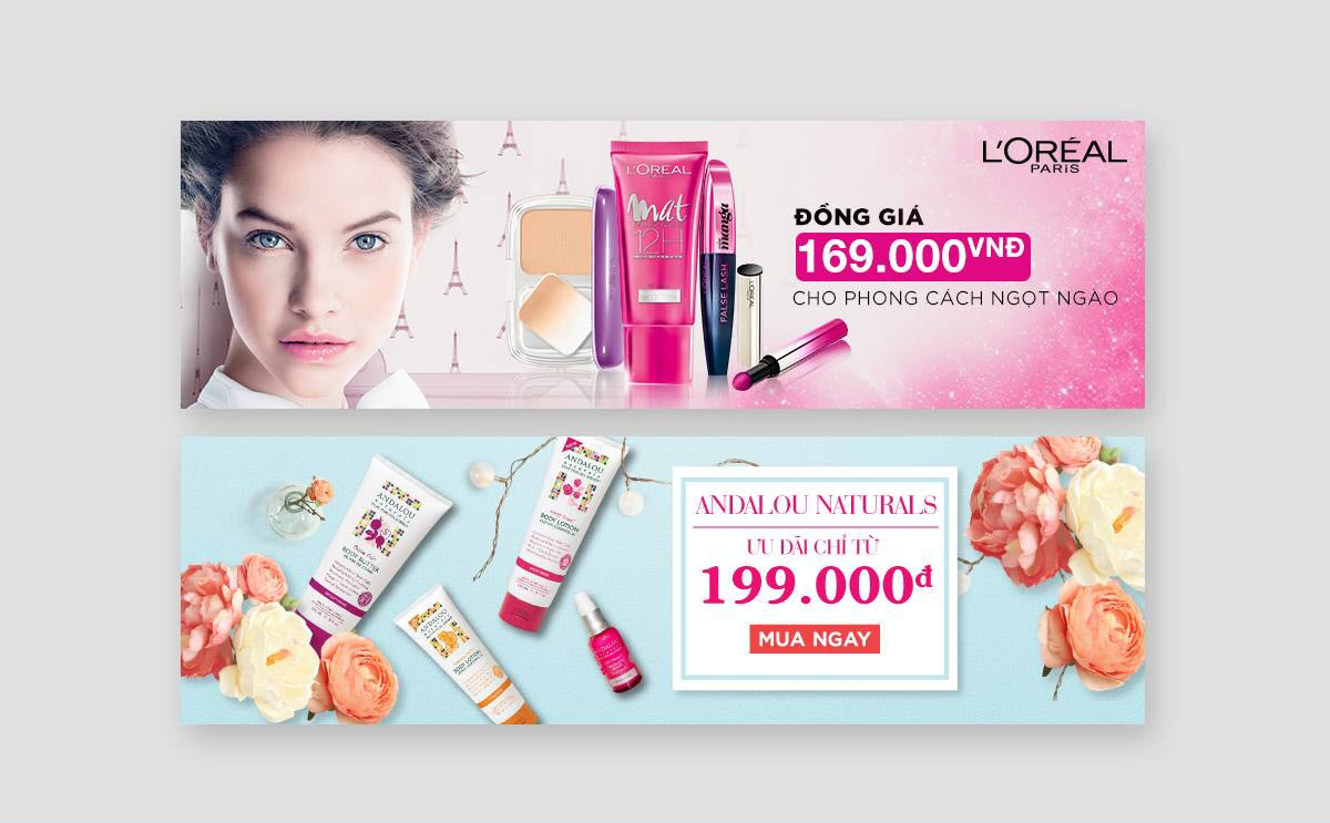 Mẫu banner quảng cáo mỹ phẩm